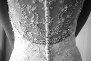 Budget bruiloft detail jurk